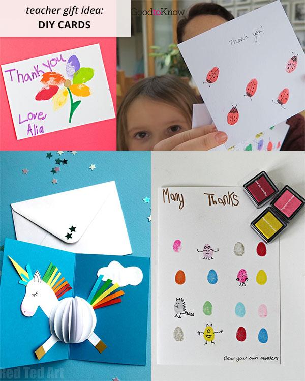 diy teacher cards made by children