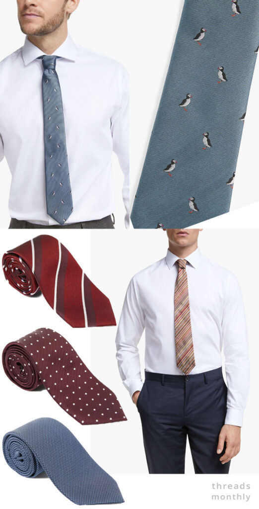 diy ties in red and blue