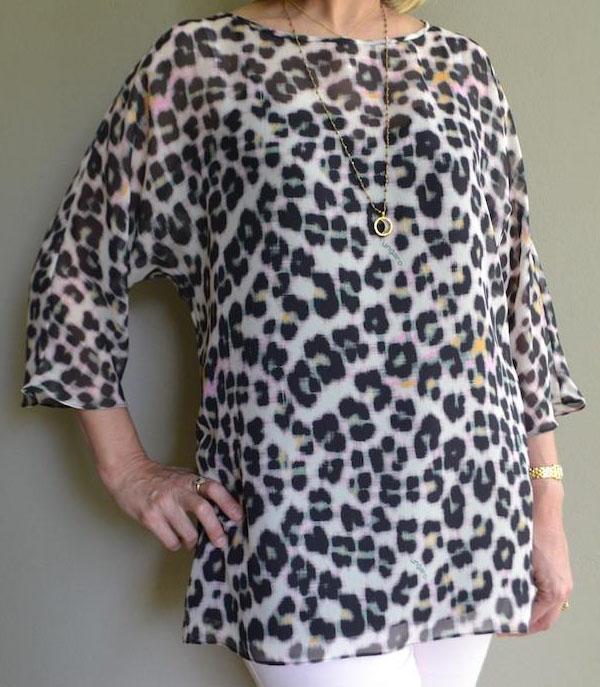 cheetah print long sleeve tunic