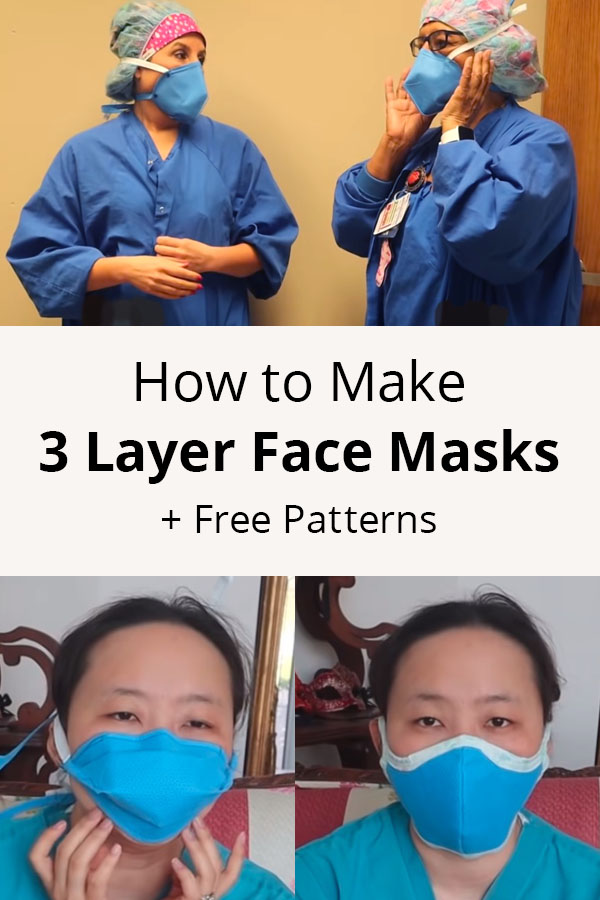 How to Make 3 Layer Face Masks according to WHO (+ Patterns)