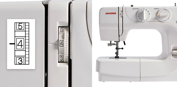 tension dial on janome sewing machine