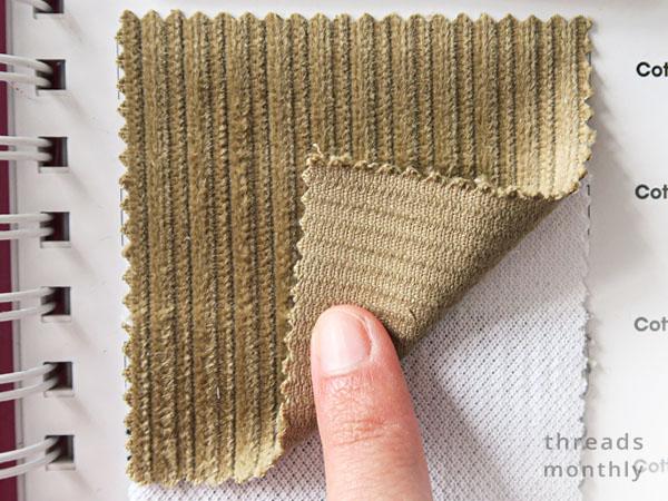 textured khaki cotton corduroy fabric