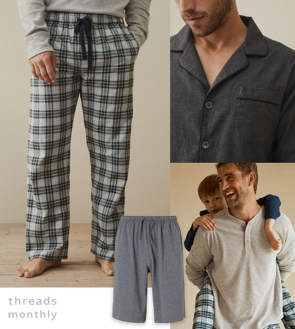 mens pajama tops and pants