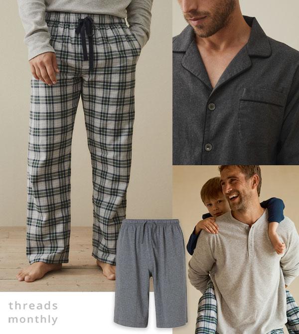 mens pajama tops and pants