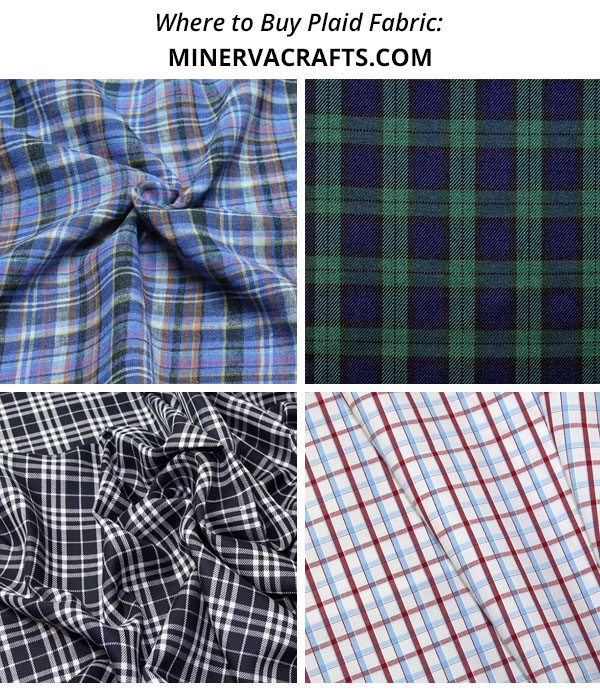 plaid, tartan, and check fabric from minerva crafts