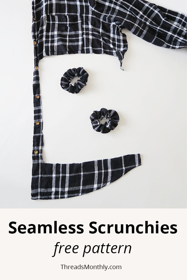 DIY Seamless Scrunchie with Free Pattern & Video Tutorial