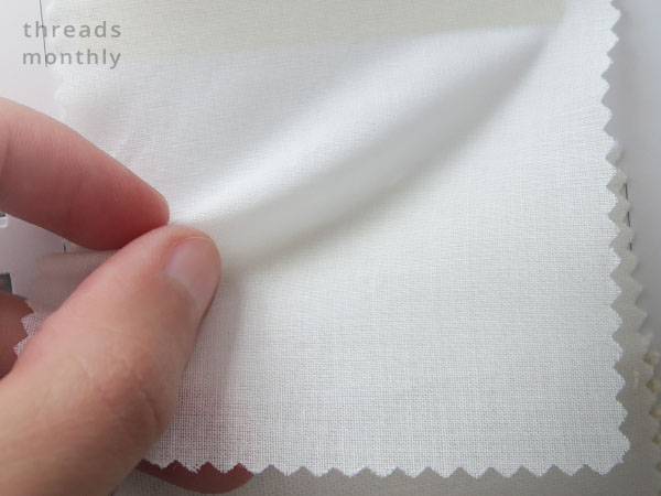 white cotton lawn fabric sample