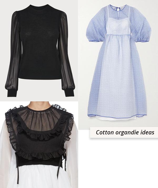 organdie tops and dresses