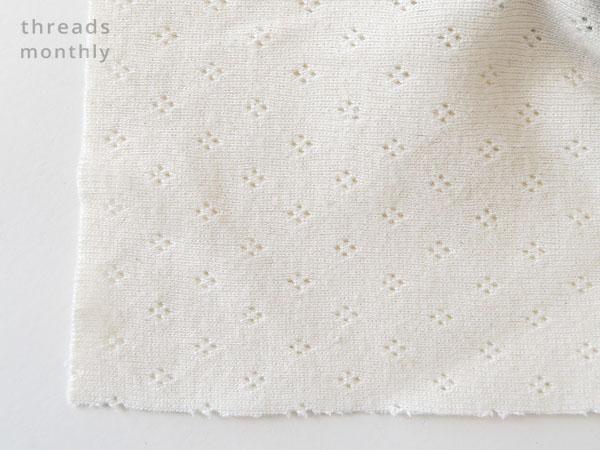 white cotton pointelle fabric