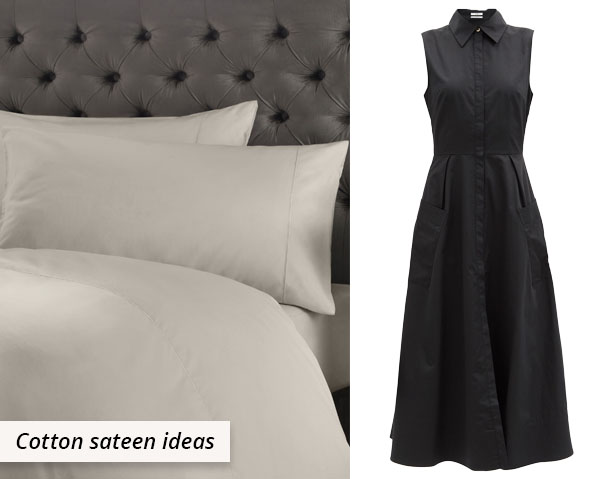 cotton sateen sheets and dress