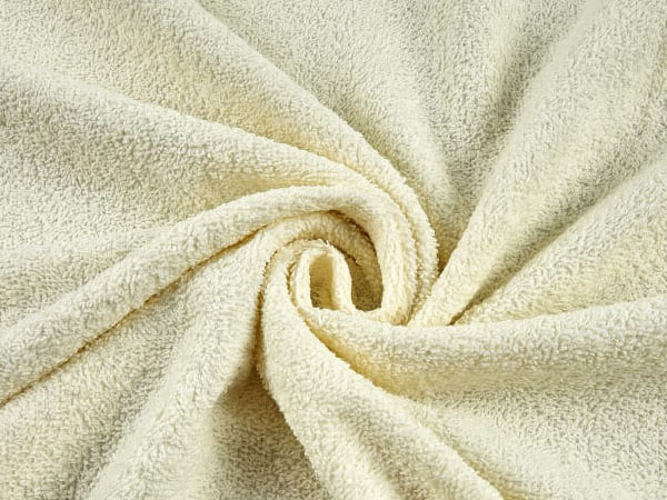 white cotton terry cloth fabric swirl
