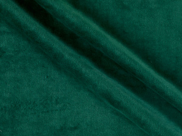 green cotton velour fabric