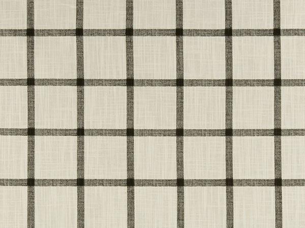 cream and black windowpane cotton fabric