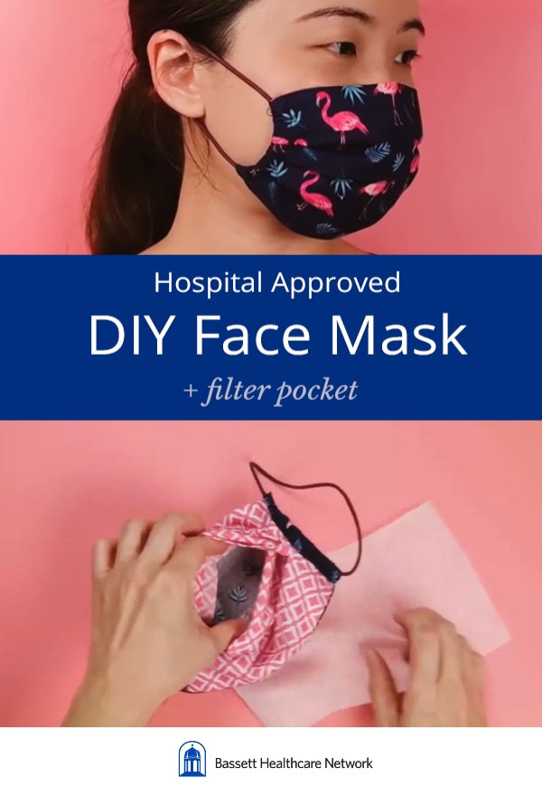 3 layer face mask pattern with pleats and filter pocket