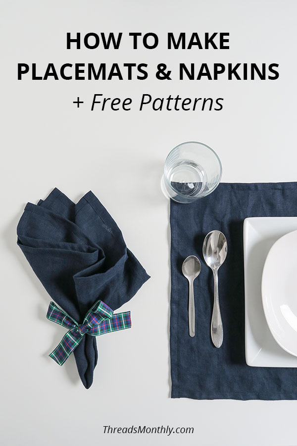 How to Make Placemats & Napkins (No Serger) + FREE Pattern