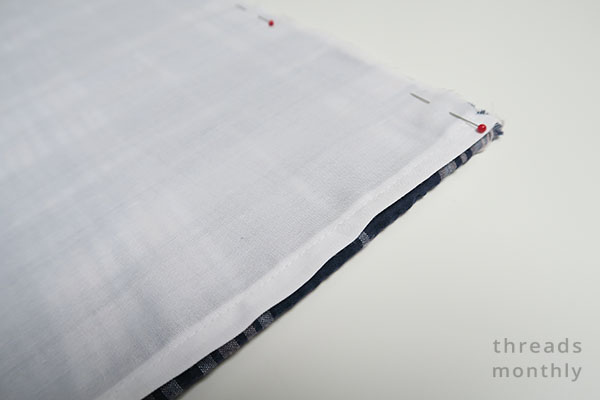 edge of fabric