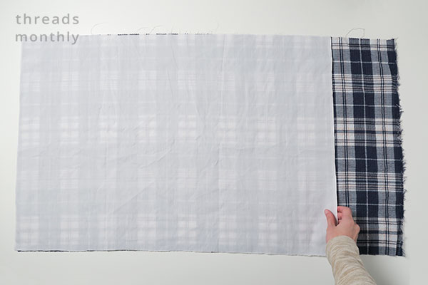 diy pillowcase fabric cut out