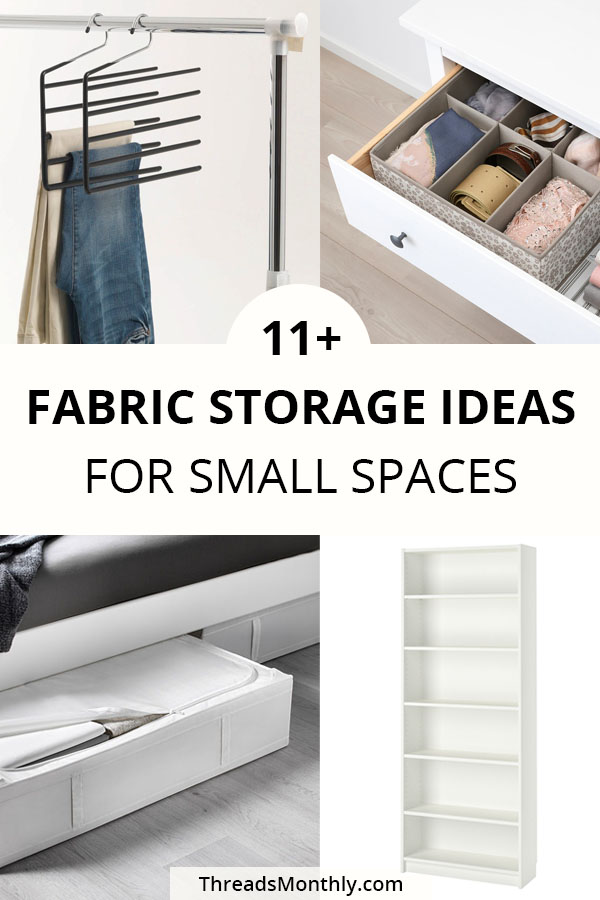 11 Fabric Storage Ideas for SMALL Sewing Spaces