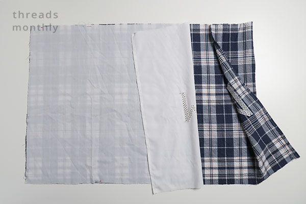 pillowcase fabric being folded