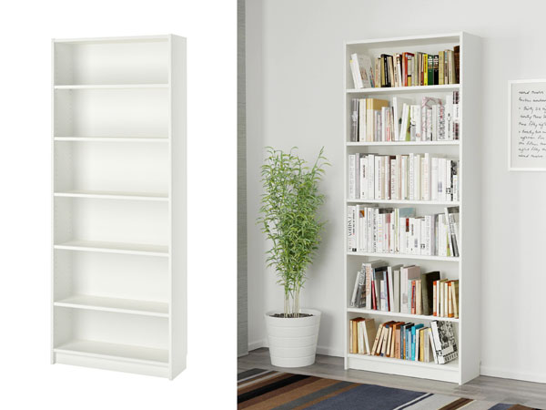 white ikea book shelf