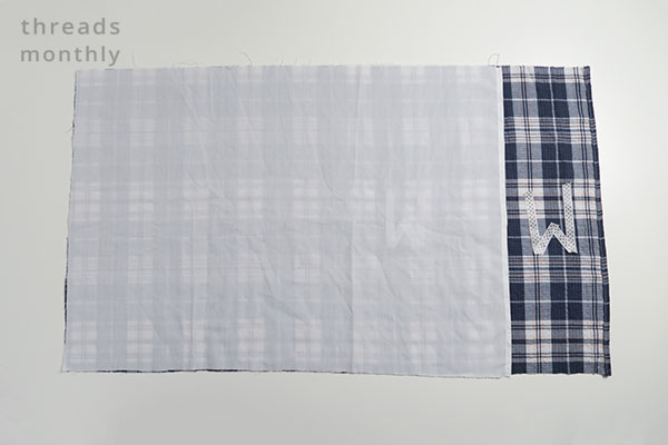 pillowcase fabric ontop of eachother