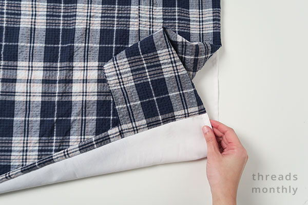 pillowcase with inner flap