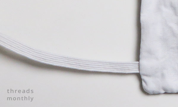close up of braid elastic