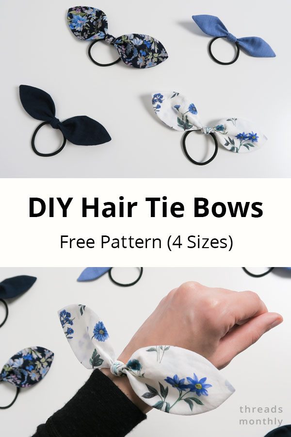How To Make Fabric Hair Tie Bows + FREE Pattern (4 Sizes)