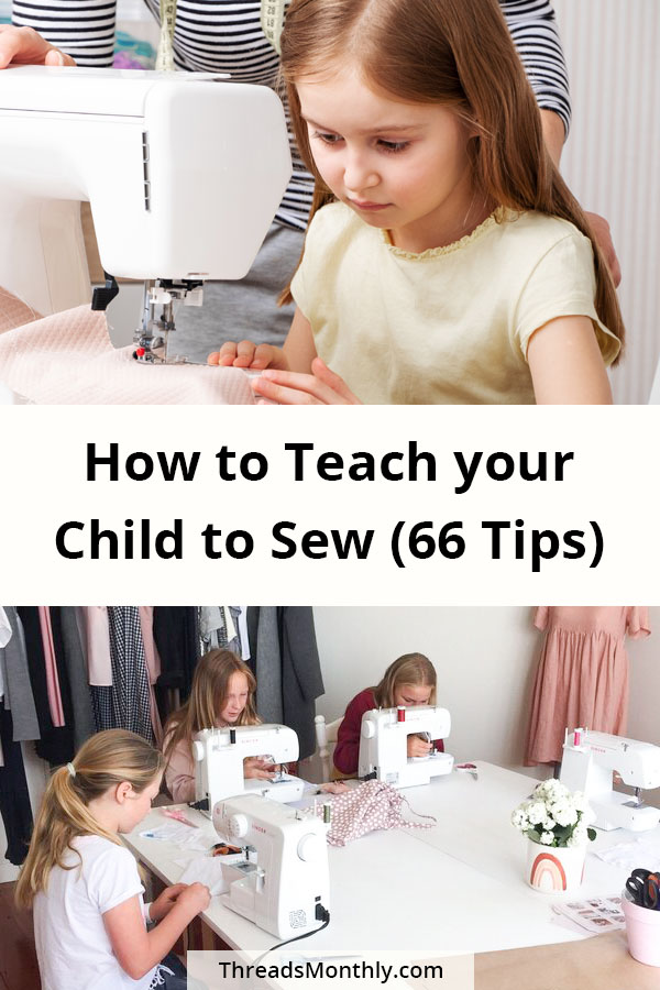 children using sewing machines