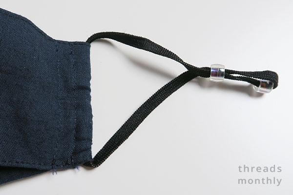 black knit elastic in face mask