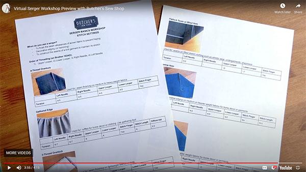 printed serger tension cheat sheet