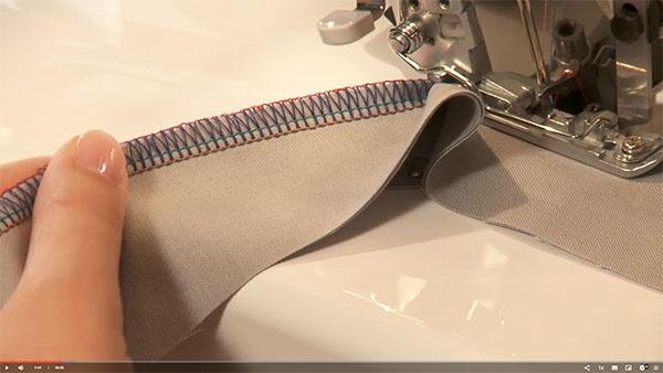 4 thread overlock stitch being sewn
