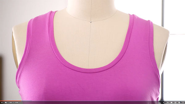 pink tank top on a mannequin