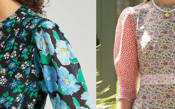 dresses with contrasting floral sleeves