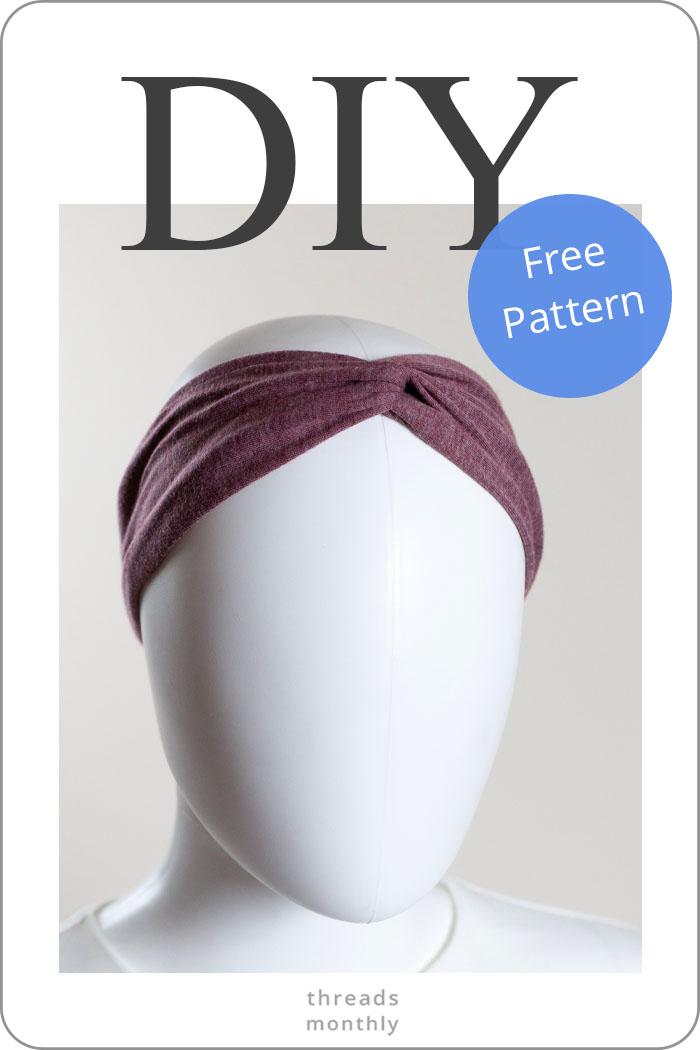 How to Make Twisted Turban Headbands: PRO Way + Free Pattern