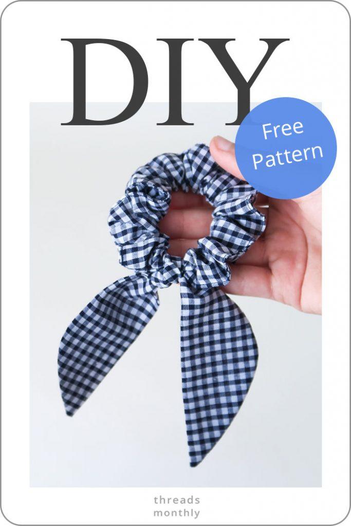 DIY Scrunchie with Hair Tie (*New* Easiest Method) + Pattern