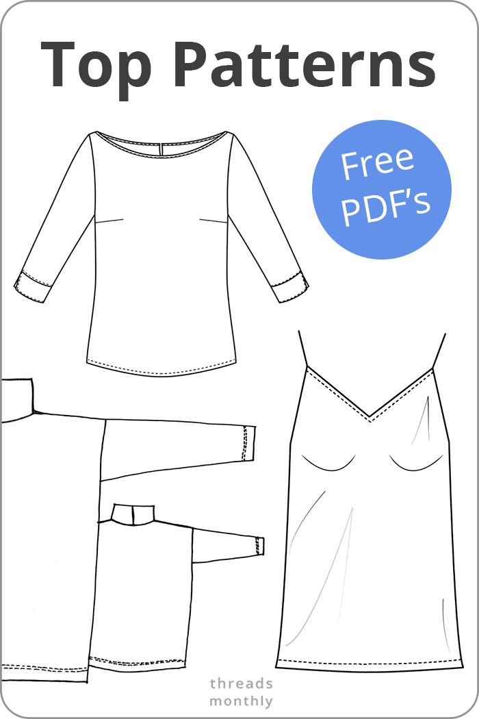 free pdf sewing patterns for womens tops